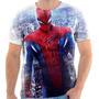 Camiseta Do Homem Aranha Super Heroi Marvel Personalizada 7