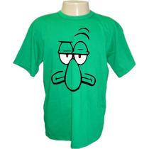 Camiseta Adulto Ou Infantil Bob Esponja Lula Molusco