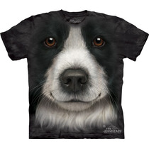 Camiseta Cão Cachorro Border Collie Face - The Mountain
