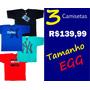 Camisetas Várias Marcas Kit C/3 Tamanho Grande Egg G2