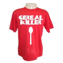 Camiseta Divertidas Cereal Killer Engraçadas Sátiras Bandas