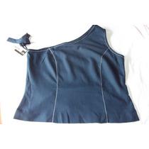 Blusa Azul Escura Tam. 50 Gg