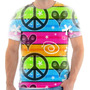 T Shirt Camisa Camiseta - Simbolo Da Paz Colorido 01