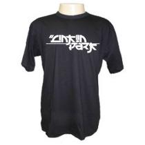 Camiseta Linkin Park Letras Japones Panico Engraçada Sátiras