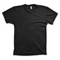Camiseta Lisa Preta 100% Poliester - Tamanho Especial Xgg