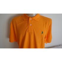 Camisa Polo By Ralph Lauren Laranja Cavalo Verde Tam Xxl