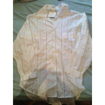 Blusa Social Branca Com Listras Patachou Tam Gg Nova Etiquet