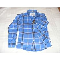 Camisa Feminina Xadrez Abercrombie Fitch