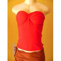 Bn138 - Blusa Tomara Que Caia Vermelha Com Bojo M/g
