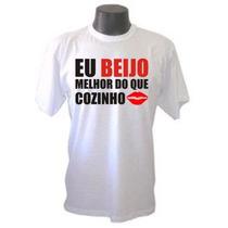 Camisetas Divertidas Beijo Melhor Do Que Cozinho Frases Rock