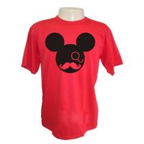 Camiseta Bigode Mickey Mouse Divertidas Engraçadas Sátiras