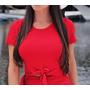 Cropped Blusa Nó Nozinho Blogueira Verão Carnaval