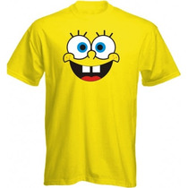 Camisa Bob Esponja - Camiseta Infantil E Adulto 100% Algodão