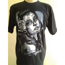 Camiseta Santa Muerte -chicano Lowrider