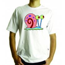 Camiseta E Baby Look Bob Esponja Gary, Adulto E Infantil