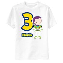Camiseta Toy Story Buzz Aniversário Personalizada