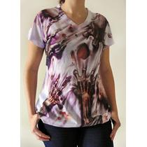 Camiseta Ataque Zumbi Feminina Walking Dead Seca Rápido
