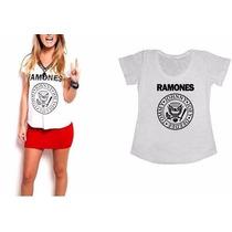 T-shirts Camisetas Personalizadas -femininas Ramones