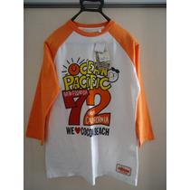 Camiseta Manga Longa Unissex O.p. Ocean Pacific Tam P