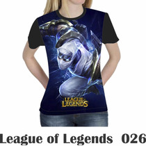 Camiseta Blusa Games League Of Legends Feminina Lol 026