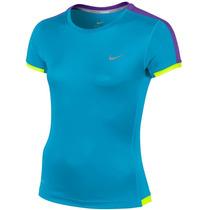 Camiseta Infantil Femino Miler Ss Crew Menina Turquesa Nike