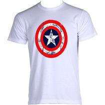 Camisetas Capitão América Temos Adulto, Feminina E Infantil