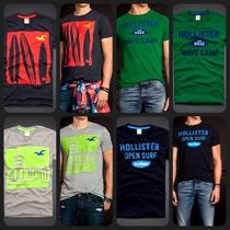 Hollister - Camisetas Masculinas - A Pronta Entrega