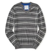 Casaco Sweater Tricot Masculino Dec. V Aeropostale - Promo
