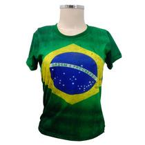 Camiseta Bandeira Do Brasil Personalizada Copa Do Mundo