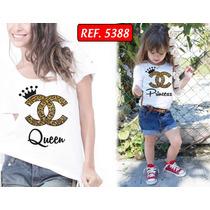 Camisetas Tal Mãe Tal Filha T-shirt Kit 2 Unid Melhor Preço