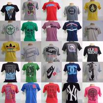 Kit C/10 Camisetas De Marcas Famosas Diversas