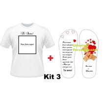 Kit Presente Personalizado Dia Dos Namorados + Chinelo