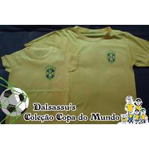 Kit Família Camiseta Brasil Copa Do Mundo 2014 - Dalsassu´s