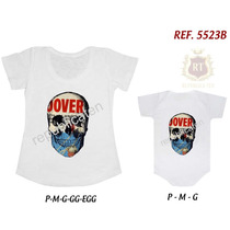 Kit Camiseta T-shirt + Body Tal Mãe Tal Filha(o) Caveira