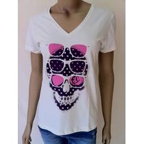 Camiseta Volcom Feminina Shady Skulz - B5931305n Nova