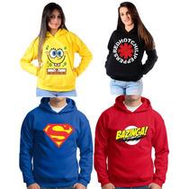 Moletom Blusa Engraçada Bandas Super Herois Feminina Masculi