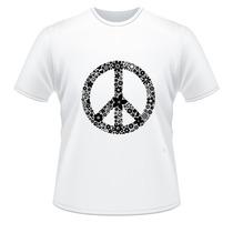 Camiseta Paz E Amor Hippie