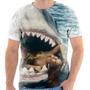 Camisa, Camiseta Tubarão Estilo Usada Wesley Safadão Moda 04
