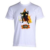 Camiseta Adulto Unissex Motoqueiro Fantasma Ghost Rider 01