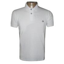 Camisa Polo Calvin Klein Branca Lisa Ck12