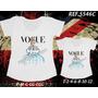 Kit Camisetas T-shirt -tal Mãe Tal Filha -princesas Disney