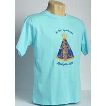 Camiseta Católica Bordada De Nossa Sra Aparecida