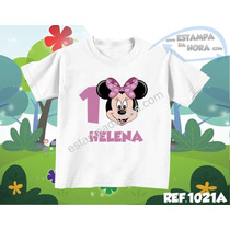Camiseta Infantil Minnie Galinha Pintadinha Aniversário