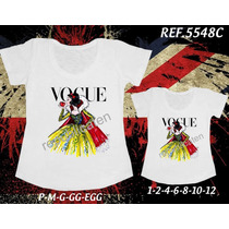 Camisetas Tal Mãe Tal Filha Princesas Branca De Neve