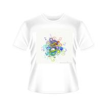 Camisetas Notas Musicais Tradicional Ou Baby Look