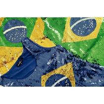 Blusa Regata Feminina Paete Do Brasil Copa Do Mundo 2014