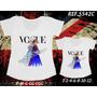 Camisetas Tal Mãe Tal Filha Princesas Frozen
