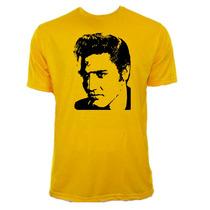 Camiseta Infantil Amarela Elvis Presley Rock Rei 04