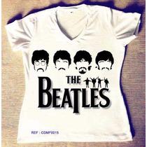 T-shirts Feminina Beatles Atacado Camisetas Personalizadas