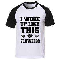 Camiseta Raglan Manga Curta Flawless Beyoncé